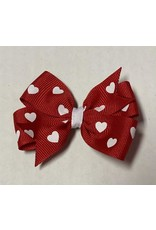 Valentines Small Pinwheel Bow Red