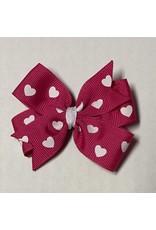 Valentines Small Pinwheel Bow Bright Pink