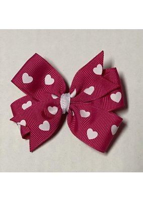 Valentines Small Pinwheel Bow Bright Pink