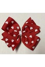 Valentines Large Pinwheel Bow Red