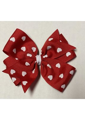 Valentines Large Pinwheel Bow Red