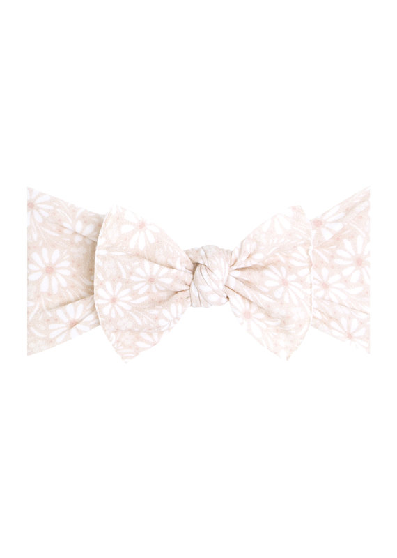 Printed Knot White Daisy