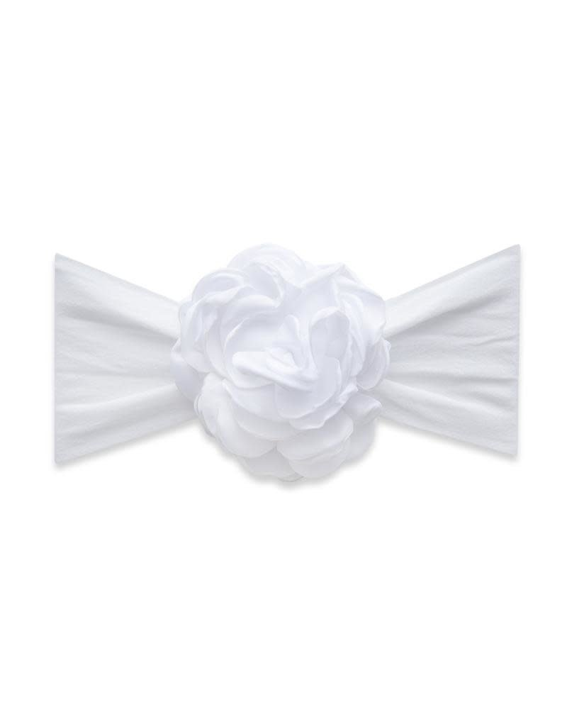 Silk Ruffle Flower White