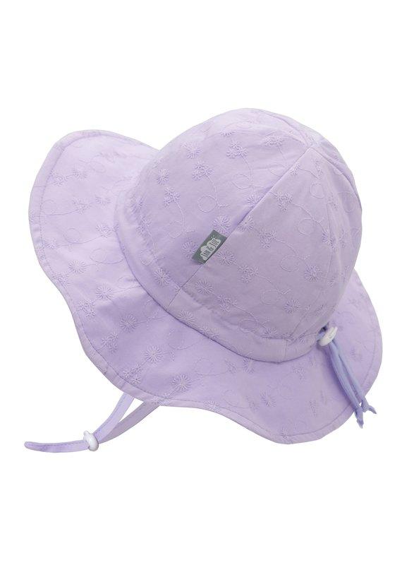 Jan & Jul Lavender Eyelet Cotton Floppy Sun Hat