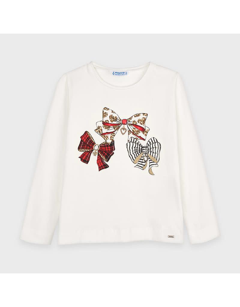 Natural Red Long Sleeve Graphic Shirt