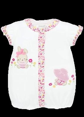 White Onesie with Bunny Print