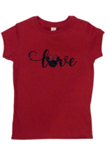 Minnie Love Cursive Short Sleeve