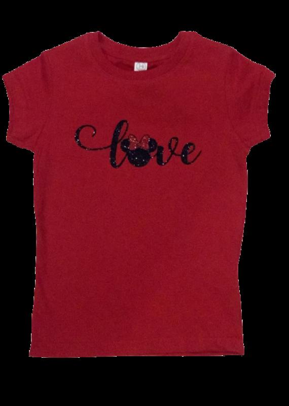 Minnie Love Cursive Short Sleeve