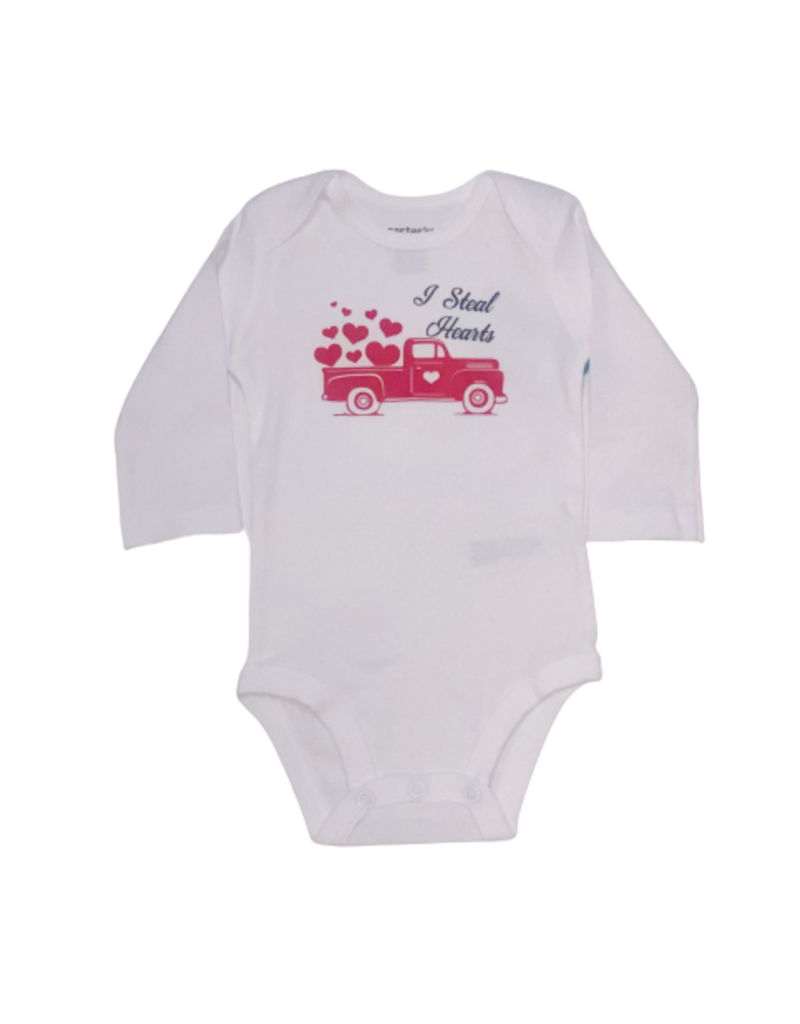 I Steal Hearts Long Sleeve Onesie
