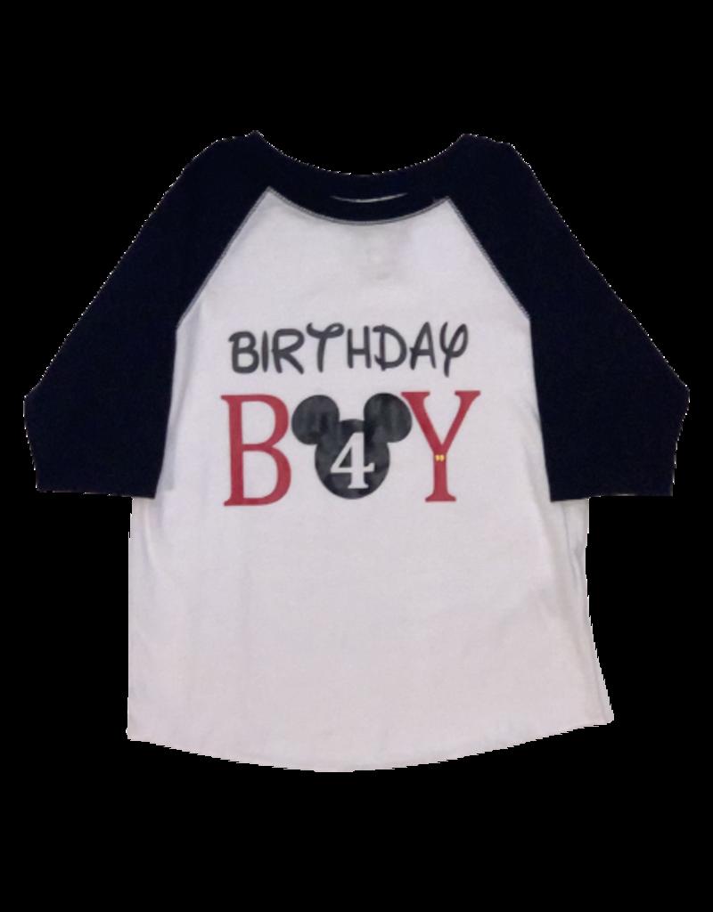 Birthday Boy Mickey Baseball Tee