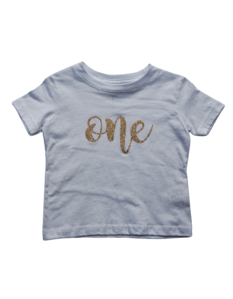 Birthday Shirt with Gold Lettering