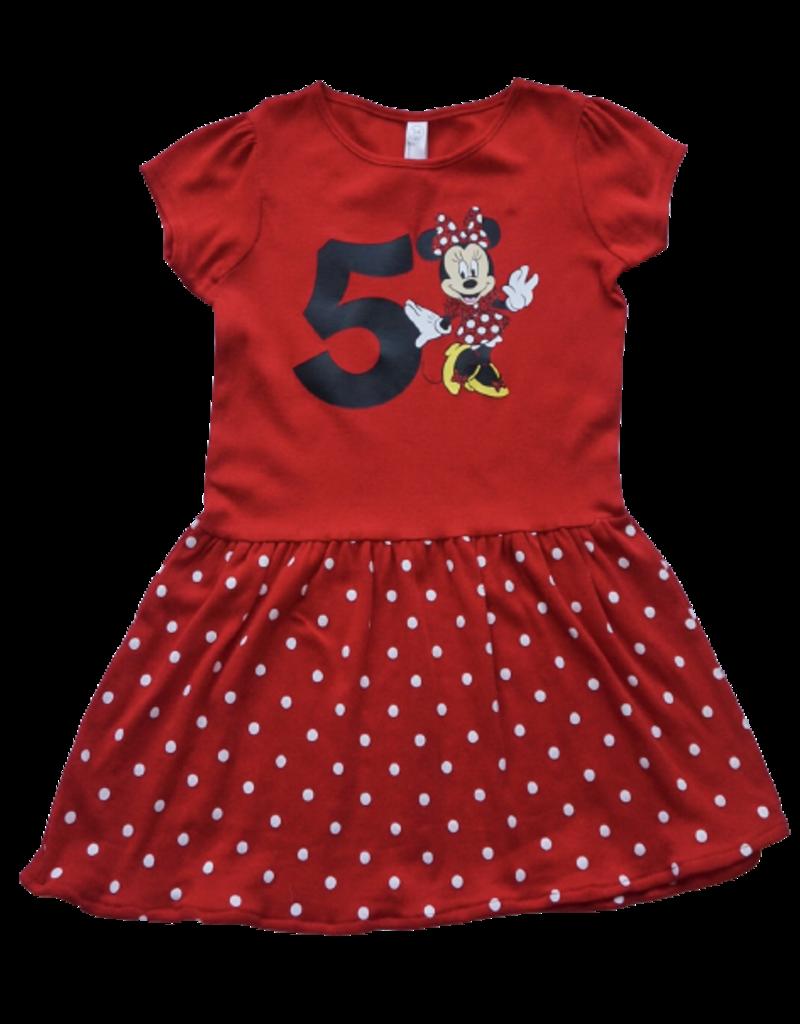 Minnie Birthday Number Dress Red