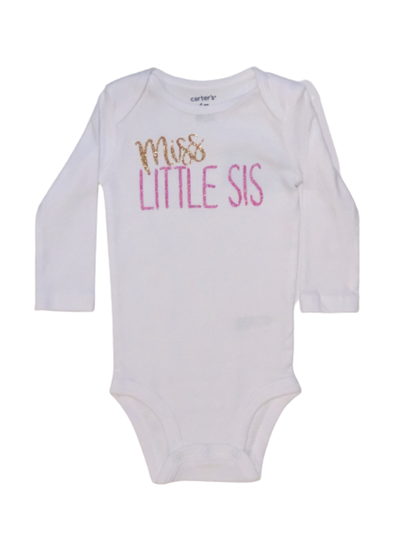 Miss Little Sis Long Sleeve Onesie