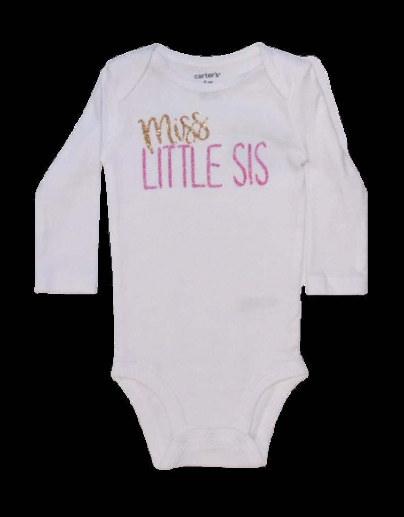 Miss Little Sis Long Sleeve Onesie