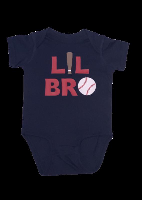 Lil Bro Baseball Short Sleeve Onesie
