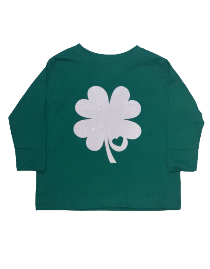 Green Shamrock Toddler Long Sleeve