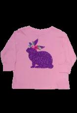 Pink Long Sleeve Purple Glitter Bunny Toddler