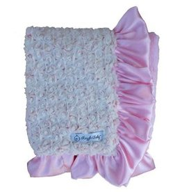 Rose Poodle and  Pink Cuddle Double Plush Blanket