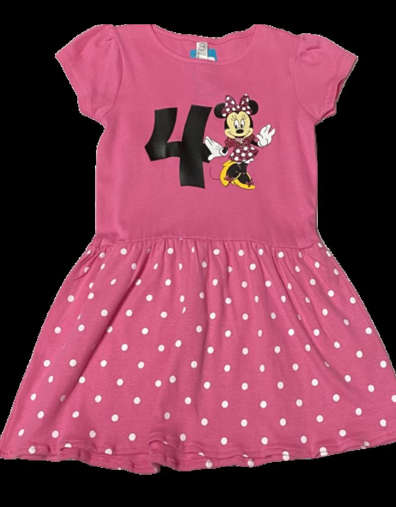 Minnie Birthday Number Dress Pink