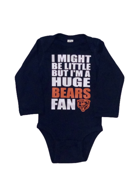 Huge Bears Fan Long Sleeve Onesie