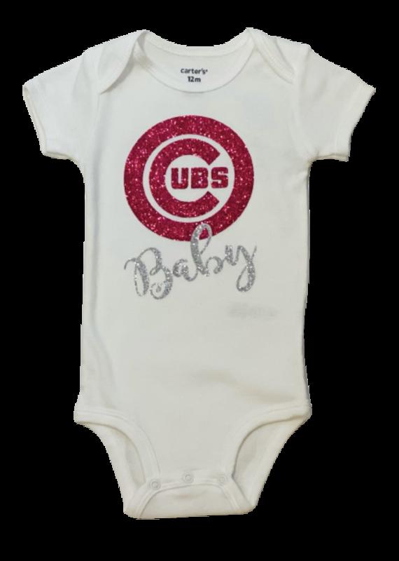 Cubs Baby Pink Onesie Short Sleeve Onesie