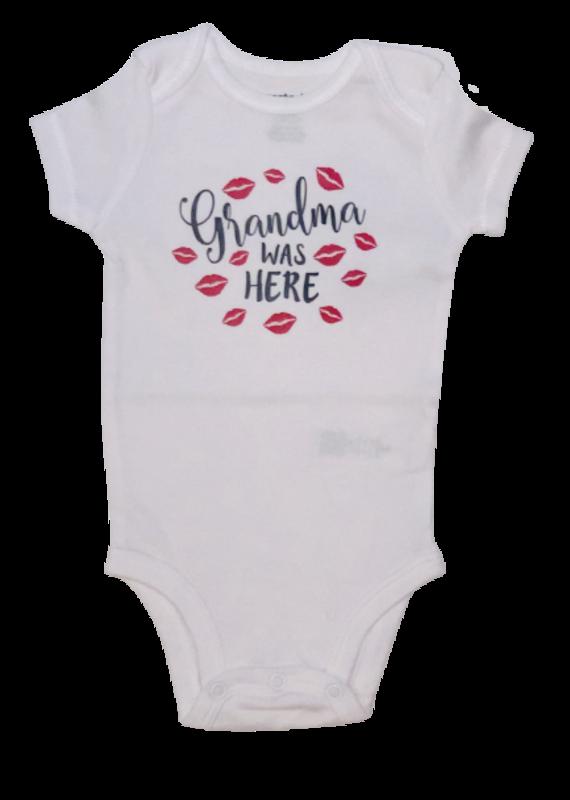 Grandma Was Here Onesie Short Sleeve
