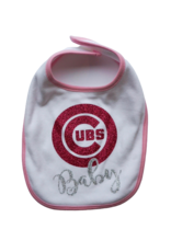 Cubs Baby Pink Bib