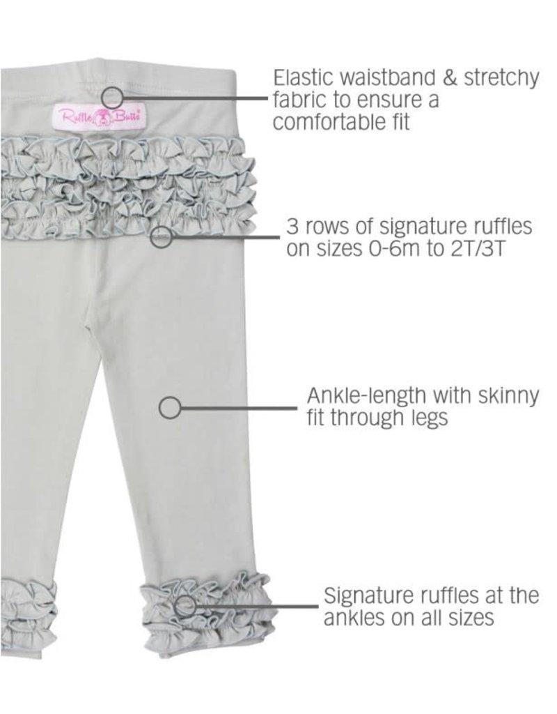 Gray Ruffle Leggings