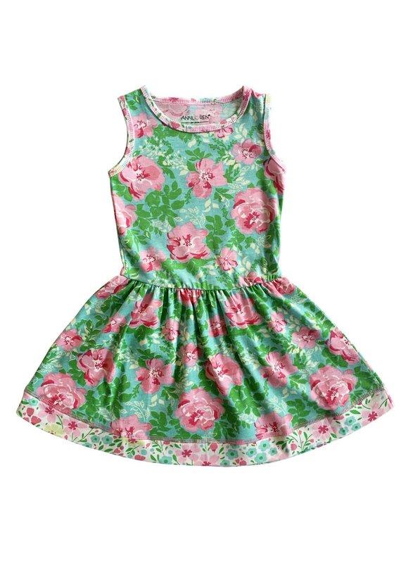 Spring Floral Roses Dress