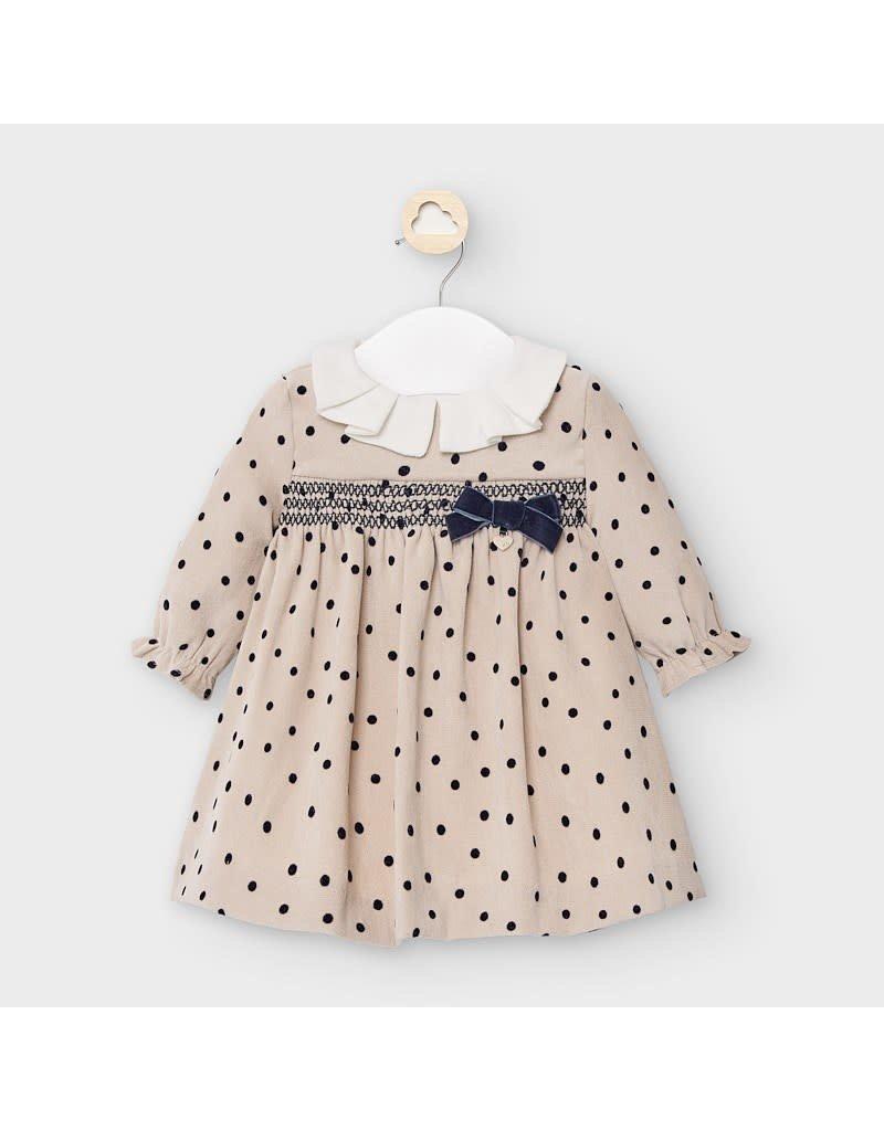 Midnight Corduroy Patterned Dress