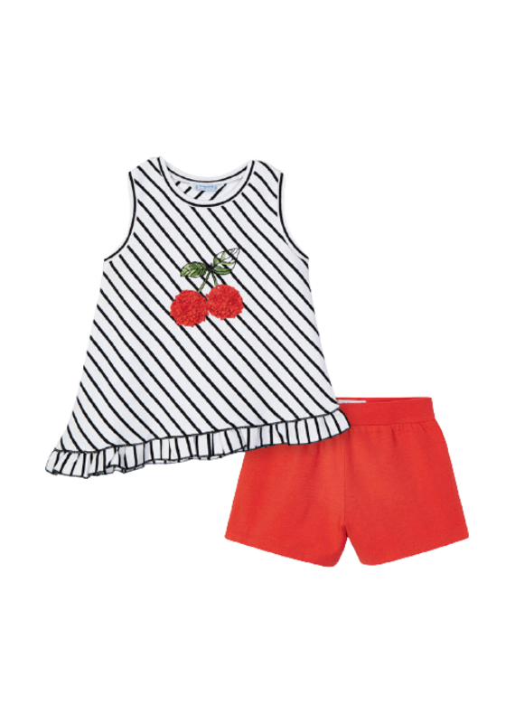Persimmon Cherry Striped Set