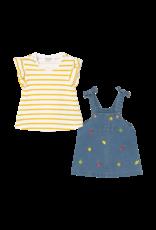 Overall Denim Skirt Set