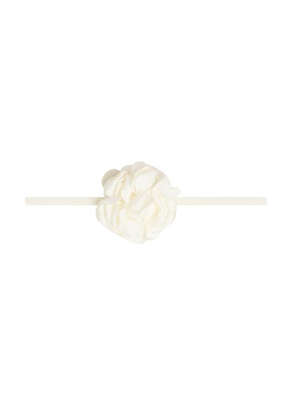 Mini Silk Ruffle Skinny Ivory