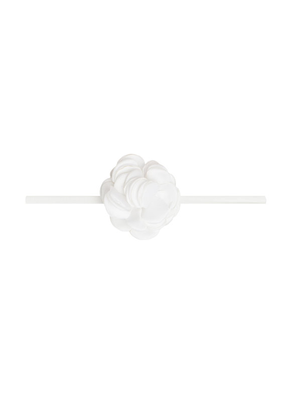 Mini Silk Ruffle Skinny White