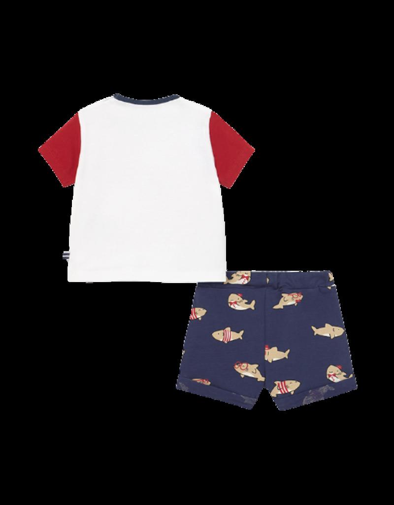 Tomato Shark Set with Shorts