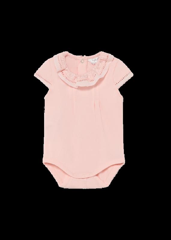 Pale Blush Short Sleeve Bodysuit