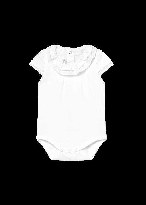 White Short Sleeve Bodysuit