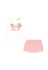 Flamingo Beach Girl Shorts Set