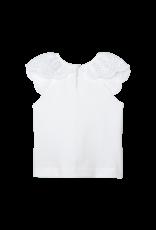 White Sleeveless Tshirt Lace