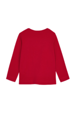 Red Long Sleeve Basic T-shirt