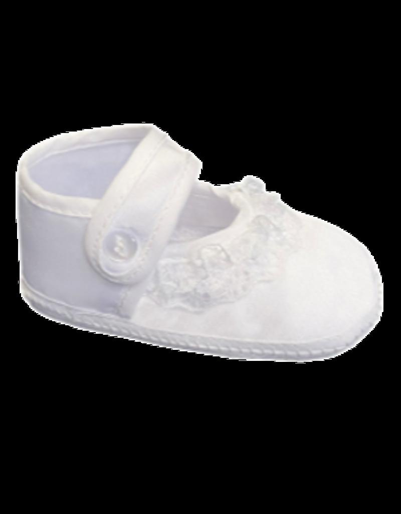 Girls Satin Christening Shoe