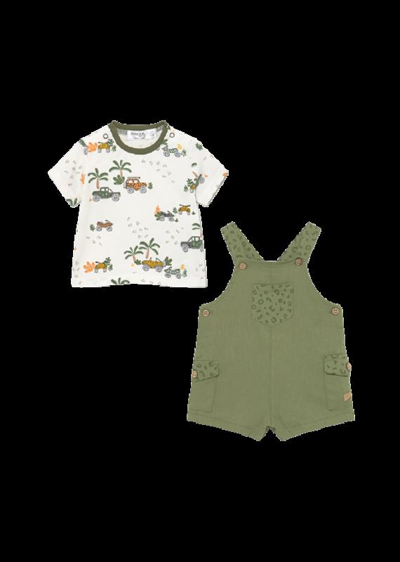 Khaki Dungaree Shirt Set