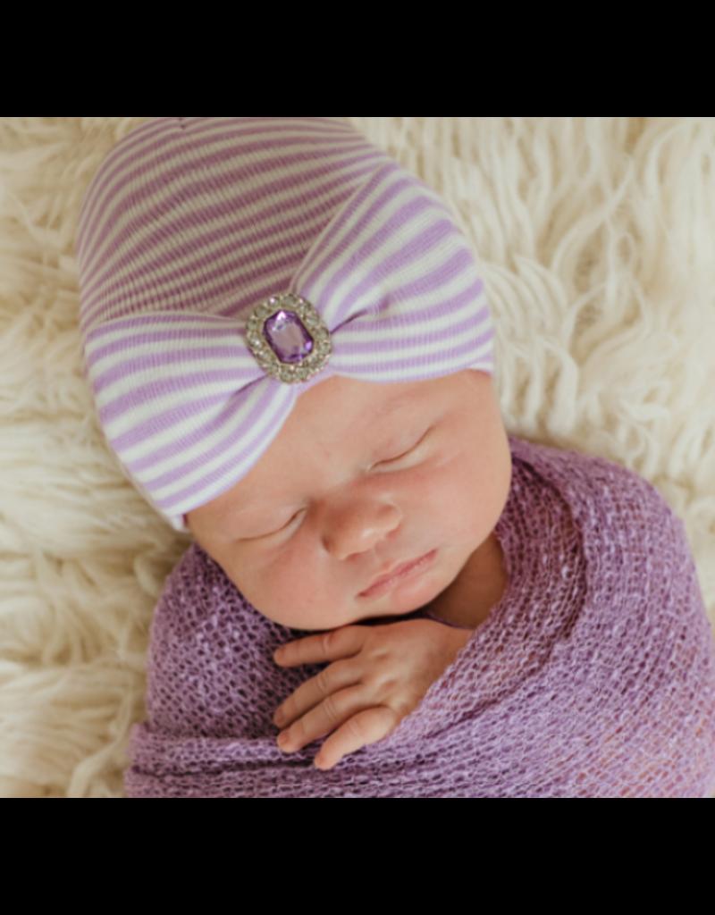 IlyBean Lucy Lavender Purple and White Striped Newborn Girl Hospital