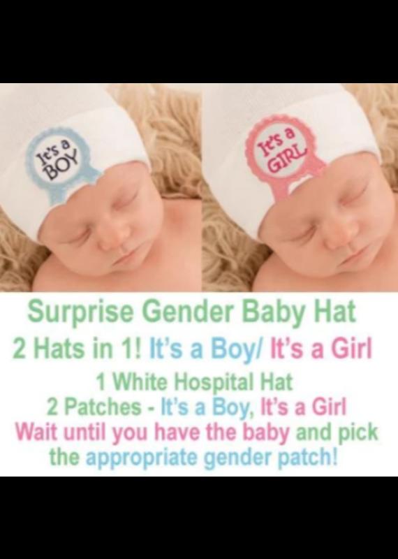 IlyBean Surprise! Ribbon Gender Baby Hospital Hat