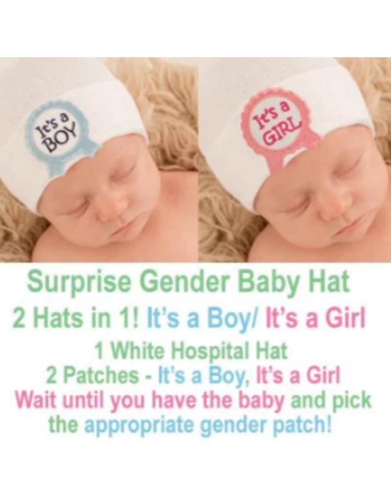 IlyBean Surprise! Ribbon Gender Baby Hospital Hat