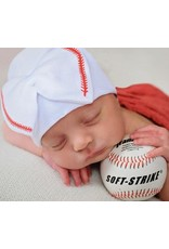 IlyBean Softball Sweetie White Newborn Girl Hospital Hat