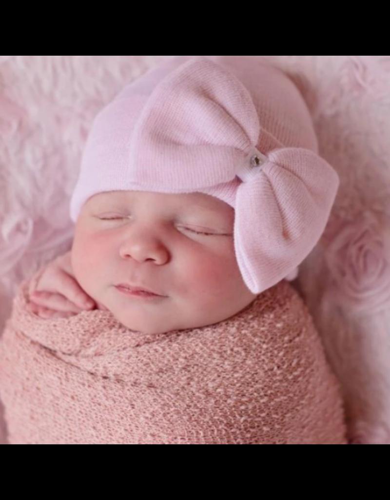 IlyBean Polly Pink Bow Newborn Girl Hospital Hat