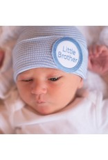 IlyBean Striped Blue and White Little Brother Newborn Boy Hospital Hat