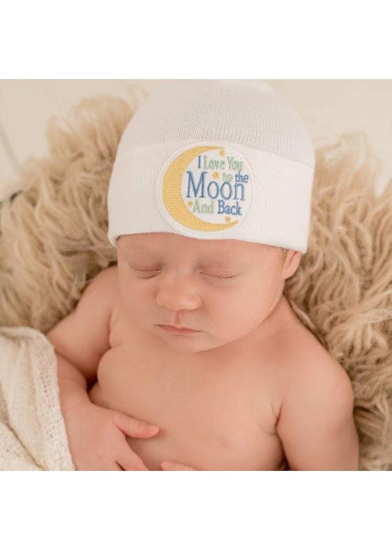 IlyBean Love You to The Moon Newborn Hospital Hat