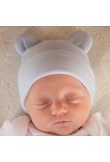IlyBean Blue White Striped Bear Newborn Hospital Hat